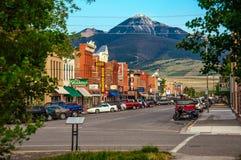 Centro histórico de Livingston, Montana foto de stock
