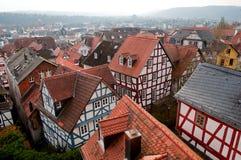 Centro histórico de Marburgo, Alemania foto de archivo libre de regalías