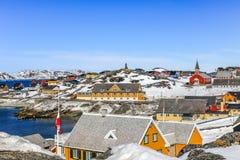 Centro histórico de Nuuk Fotos de Stock Royalty Free