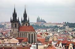 Centro histórico de Praga Imagen de archivo libre de regalías