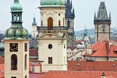Centro histórico de Praga Imagenes de archivo