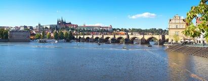 Centro histórico de Praga - panorâmico Imagem de Stock Royalty Free