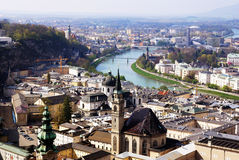 Centro histórico de Salzburg, Áustria Fotografia de Stock Royalty Free