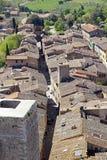 Centro histórico de San Gimignano, Toscânia, Itália imagem de stock