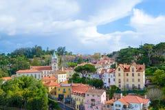 Centro histórico de Sintra (Portugal) Foto de archivo
