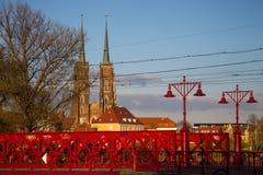 Centro histórico de wroclaw Foto de archivo libre de regalías