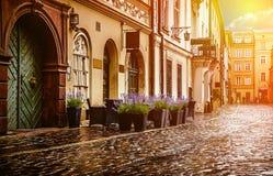 Centro histórico de Wroclaw - de Polonia Imagen de archivo