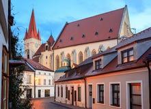 Centro histórico de Znojmo, República Checa imagem de stock