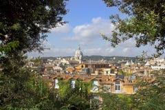 Centro histórico del paisaje urbano de Roma Fotos de archivo libres de regalías