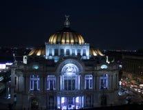 Centro histórico no palácio de Cidade do México das belas artes fotografia de stock royalty free