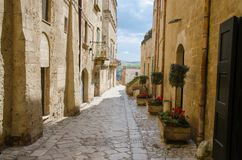 Centro histórico Sasso Caveoso de Sassi di Matera, Basilicata, AIE foto de stock royalty free