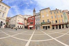 Centro histórico de Piran, Eslovenia Fotografía de archivo
