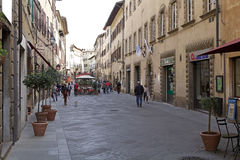 Centro histórico de Volterra, Toscana, Italia Fotos de archivo libres de regalías