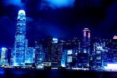 Centro Hong Kong de las finanzas internacionales fotos de archivo libres de regalías