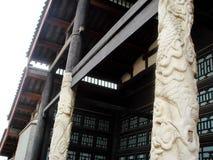 Centro imperial de pedra do exame de Dragon Pillar @, Dingzhou, China fotografia de stock royalty free