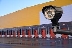 Centro inovativo da logística segurança monitorando o armazenamento dos produtos, bens fotografia de stock royalty free