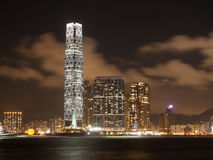 Centro internacional do comércio de Hong Kong Fotografia de Stock