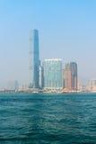 Centro internazionale di commercio, la costruzione più alta in Hong Kong Fotografia Stock Libera da Diritti