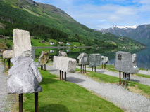 Centro Jostedalsbreen do parque nacional em Fosnes, Stryn, Noruega Imagem de Stock Royalty Free