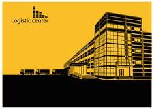 Centro logístico stock de ilustración