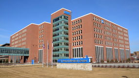 Centro médico de Detroit Fotos de archivo libres de regalías