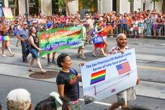 Centro médico de San Francisco Pride Parade VA Foto de Stock Royalty Free