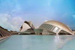Centro moderno de la ciencia en Valencia Fotos de archivo