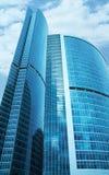 Centro moderno di affari dei grattacieli Fotografia Stock