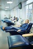 Centro moderno di trasfusione di sangue Fotografia Stock Libera da Diritti