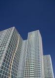 Centro moderno di vetro bianco di affari Immagine Stock