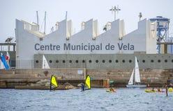 Centro municipal de la navegación en Barcelona Fotos de archivo libres de regalías