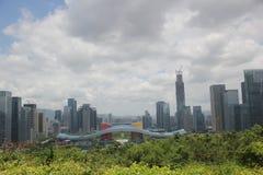Centro municipal del distrito futian de Shenzhen de China de Asia Imagen de archivo libre de regalías