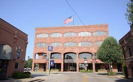 Centro municipale Jonesboro Arkansas Fotografie Stock Libere da Diritti