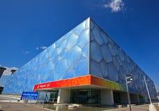 Centro nazionale di Pechino Aquatics - cubo dell'acqua Immagini Stock