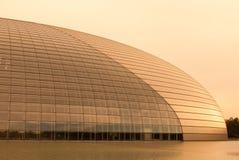 Centro nazionale per le arti dello spettacolo al tramonto Fotografia Stock Libera da Diritti
