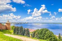 Centro Nižnij Novgorod di vista superiore Fotografia Stock