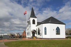 Centro norueguês Cardiff das artes da igreja imagens de stock royalty free
