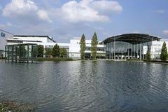 Centro novo da feira de comércio de Munich em Muenchen Riem Foto de Stock