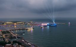 Centro ol?mpico da naviga??o de Qingdao fotos de stock royalty free