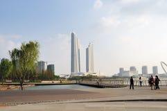 Centro olimpico verde delle torri gemelle Fotografia Stock Libera da Diritti
