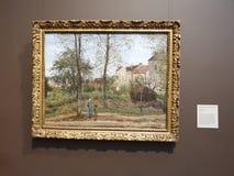 Centro-paisaje de Getty en el otoño de Louveciennes fotos de archivo libres de regalías