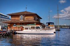 Centro per le barche di legno Immagini Stock