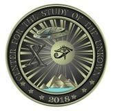 Centro per lo studio del Unkown illustrazione di stock