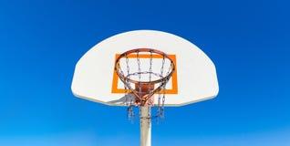 Centro Piano di sostegno-Orlo-anteriore di pallacanestro Fotografia Stock