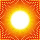 Centro que brilla intensamente ardiente del modelo del calor ilustración del vector
