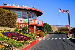 Centro redondo del visitante de la casa de puente Golden Gate Imagen de archivo libre de regalías