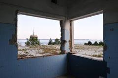 Centro ricreativo abbandonato Fotografie Stock