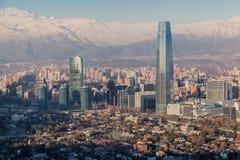 Centro Santiago Chile de Costanera Imagen de archivo libre de regalías