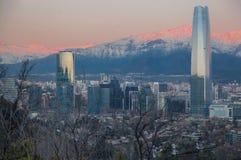 Centro Santiago Chile di Costanera Fotografie Stock Libere da Diritti