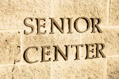 Centro senior Immagini Stock